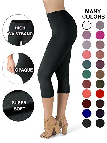 1351f1b41ee1a SATINA High Waisted Super Soft Capri Leggings - 20 Colors - Reg & Plus Size
